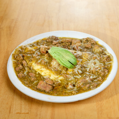 chili verde omelette | Batter Up Pancakes