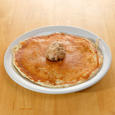 pancake with cookie dough
