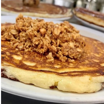 Tessa Cate's Cinnamon Roll, Batter Up Pancakes Fresno